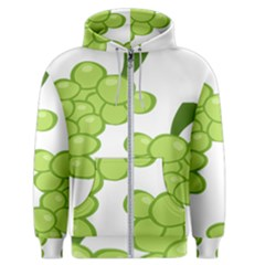 Fruit Green Grape Men s Zipper Hoodie by Mariart