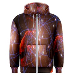 Highest Resolution Version Space Net Men s Zipper Hoodie by Mariart