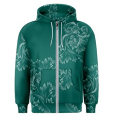Leaf Green Blue Sexy Men s Zipper Hoodie by Mariart