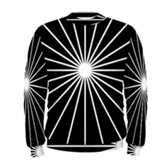 Ray White Black Line Space Men s Sweatshirt by Mariart
