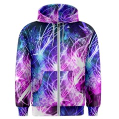 Space Galaxy Purple Blue Men s Zipper Hoodie by Mariart