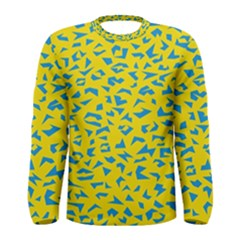 Blue Yellow Space Galaxy Men s Long Sleeve Tee by Mariart