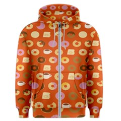 Coffee Donut Cakes Men s Zipper Hoodie by Mariart