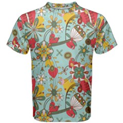 Flower Fruit Star Polka Rainbow Rose Men s Cotton Tee by Mariart