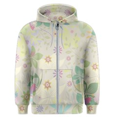 Flower Rainbow Star Floral Sexy Purple Green Yellow White Rose Men s Zipper Hoodie by Mariart
