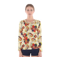 Flower Seed Rainbow Rose Women s Long Sleeve Tee by Mariart