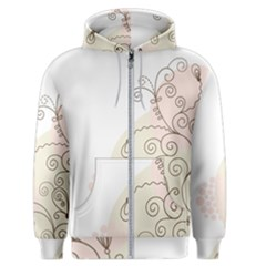 Flower Simple Pink Men s Zipper Hoodie by Mariart