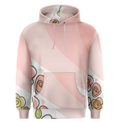 Flower Sunflower Wave Waves Pink Men s Pullover Hoodie by Mariart