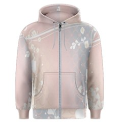 Love Heart Flower Purple Sexy Rose Men s Zipper Hoodie by Mariart