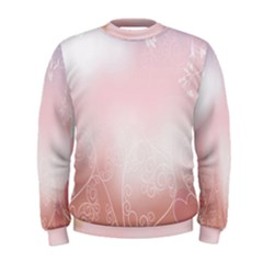 Love Heart Pink Valentine Flower Leaf Men s Sweatshirt by Mariart