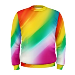 Red Yellow White Pink Green Blue Rainbow Color Mix Men s Sweatshirt by Mariart