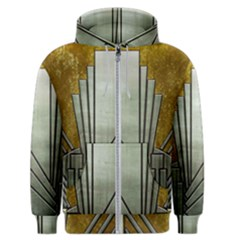 Art Nouveau Gold Silver Men s Zipper Hoodie by 8fugoso