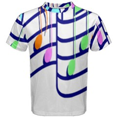 Music Note Tone Rainbow Blue Pink Greeen Sexy Men s Cotton Tee by Mariart