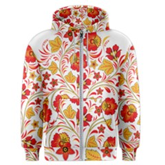Wreaths Flower Floral Sexy Red Sunflower Star Rose Men s Zipper Hoodie by Mariart
