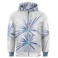 Fireworks Light Blue Space Happy New Year Men s Zipper Hoodie by AnjaniArt