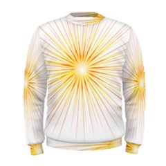 Fireworks Light Yellow Space Happy New Year Red Men s Sweatshirt by AnjaniArt