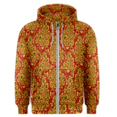 Flower Rose Red Yellow Sexy Men s Zipper Hoodie by AnjaniArt