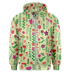 Cute Doodle Flowers 5 Men s Zipper Hoodie by tarastyle