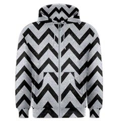 Chevron9 Black Marble & Silver Glitter Men s Zipper Hoodie by trendistuff