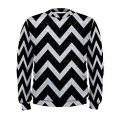 Chevron9 Black Marble & Silver Glitter (r) Men s Sweatshirt by trendistuff