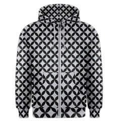 Circles3 Black Marble & Silver Glitter Men s Zipper Hoodie by trendistuff