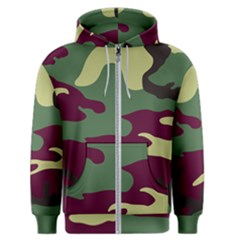 Camuflage Flag Green Purple Grey Men s Zipper Hoodie by Mariart