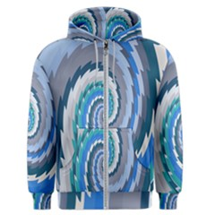 Psycho Hole Chevron Wave Seamless Men s Zipper Hoodie by Mariart