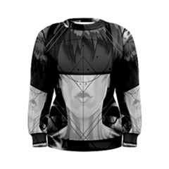 Beautiful Bnw Fractal Feathers For Major Motoko Women s Sweatshirt by jayaprime