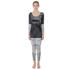 Beautiful Bnw Fractal Feathers For Major Motoko Long Sleeve Catsuit by jayaprime