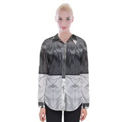 Beautiful Bnw Fractal Feathers For Major Motoko Womens Long Sleeve Shirt by jayaprime