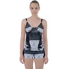 Beautiful Bnw Fractal Feathers For Major Motoko Tie Front Two Piece Tankini by jayaprime