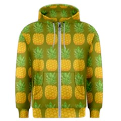 Fruite Pineapple Yellow Green Orange Men s Zipper Hoodie by Alisyart