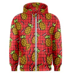 Fruit Pineapple Red Yellow Green Men s Zipper Hoodie