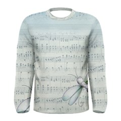 Vintage Blue Music Notes Men s Long Sleeve Tee by Celenk