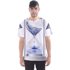 Time Water Movement Drop Of Water Men s Sports Mesh Tee