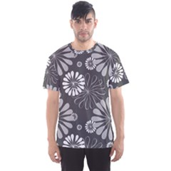Floral Pattern Floral Background Men s Sports Mesh Tee