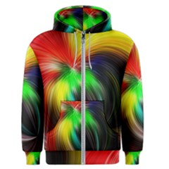Circle Lines Wave Star Abstract Men s Zipper Hoodie by Celenk