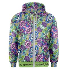Colorful Modern Floral Print Men s Zipper Hoodie by dflcprints