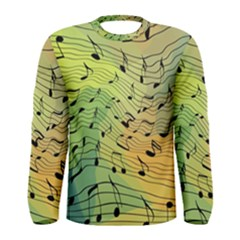 Music Notes Men s Long Sleeve Tee by linceazul