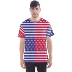 American Flag Patriot Red White Men s Sports Mesh Tee
