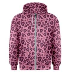 Leopard Heart 03 Men s Zipper Hoodie by jumpercat