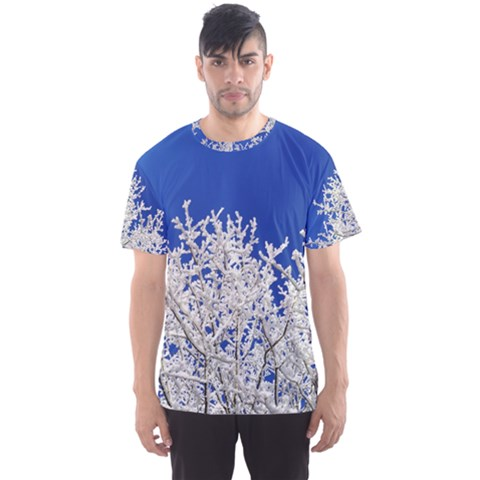 Crown Aesthetic Branches Hoarfrost Men s Sports Mesh Tee by BangZart