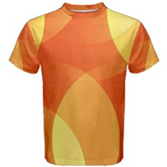 Abstract Orange Yellow Red Color Men s Cotton Tee
