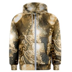 Gold Sea Coast Waves Depier Men s Zipper Hoodie by Celenk