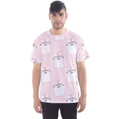 Pattern Cat Pink Cute Sweet Fur Men s Sports Mesh Tee