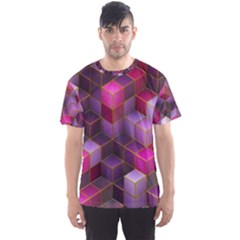Cube Surface Texture Background Men s Sports Mesh Tee