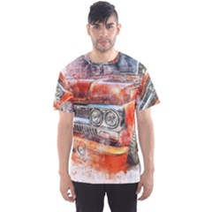 Car Old Car Art Abstract Men s Sports Mesh Tee