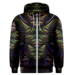 Fractal Colorful Pattern Fantasy Men s Zipper Hoodie by Celenk