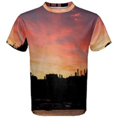 Sunset Silhouette Sun Sky Evening Men s Cotton Tee