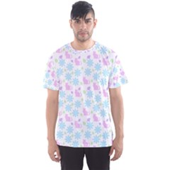 Cats And Flowers Men s Sports Mesh Tee